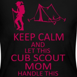 Black and Pink Cub Scout Mom Long Sleeve Shirt - Women's Long Sleeve Jersey T-Shirt