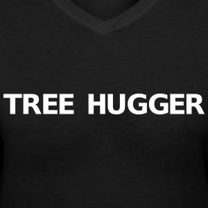 Tree hugger  Women's T-Shirts - Women's V-Neck T-Shirt