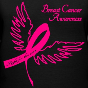 Breast Cancer Awareness Outline Women's T-Shirts - Women's V-Neck T-Shirt