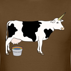 Magical Unicorn Dairy Milk Cow T-Shirts - Men's T-Shirt