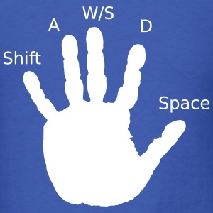 Gamer Hand, WASD T-Shirts - Men's T-Shirt