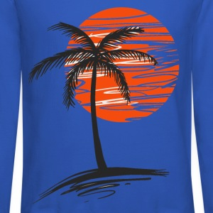 Palm tree Long Sleeve Shirts - Crewneck Sweatshirt