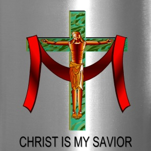 Christ Is My Savior Bottles & Mugs - Travel Mug