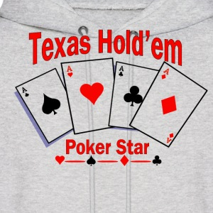 Texas Hold'em Poker Star Hoodies - Men's Hoodie