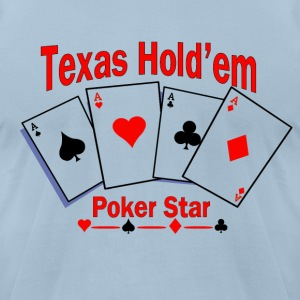 Texas Hold'em Poker Star T-Shirts - Men's T-Shirt by American Apparel