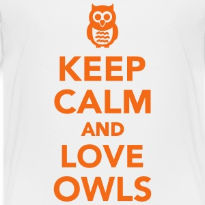 Keep calm and love Owls Kids' Shirts - Kids' Premium T-Shirt