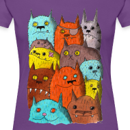 Design ~ The Cats of Meow Fitted Tee
