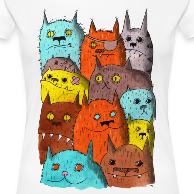 The Cats of Meow Fitted Tee