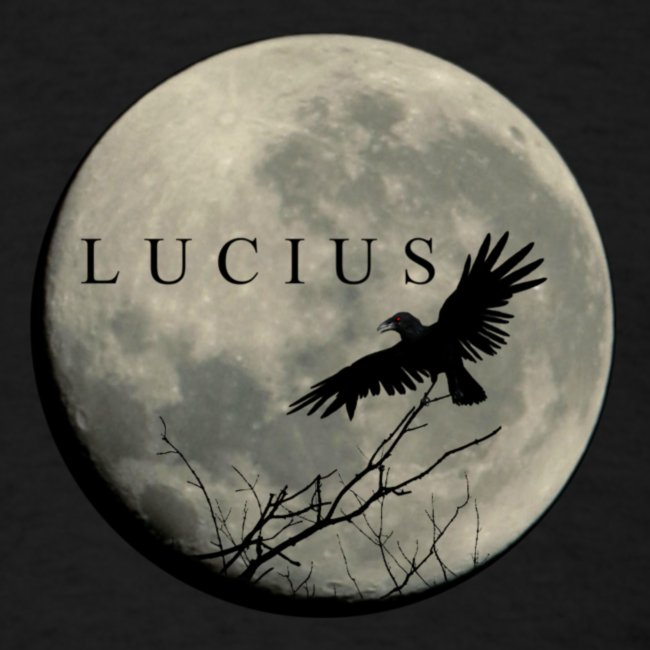 RAVEN AND MOON WITH LUCIUS LOGO