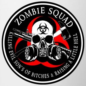 Biohazard Zombie Squad 3 Ring Patch outlined 2 Bottles & Mugs - Coffee/Tea Mug