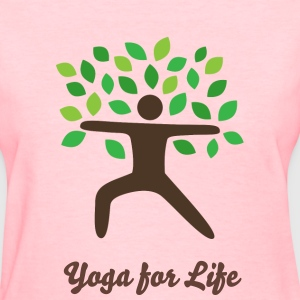 yoga warrior pose tree Women's T-Shirts - Women's T-Shirt