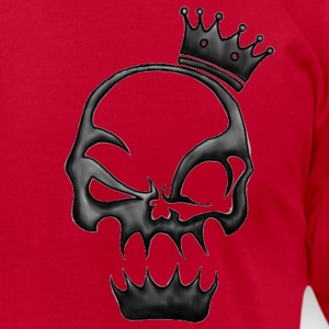 Crowned Skull T-Shirts - Men's T-Shirt by American Apparel