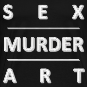 Sex Murder Art - white - Men's Premium T-Shirt
