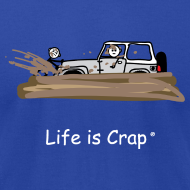 Design ~ Jeep Stuck in Mud - Mens T-shirt by American Apparel