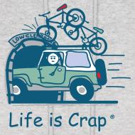 Design ~ Jeep Mountain Bike Overpass - Mens Hooded Sweatshirt
