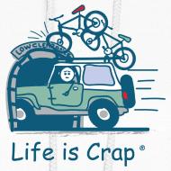 Design ~ Jeep Mountain Bike Overpass - Womens Hooded Sweatshirt