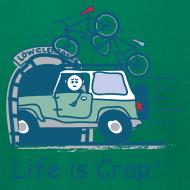 Design ~ Jeep Mountain Bike Overpass Men's T-Shirt by American Apparel