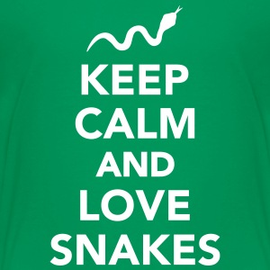 Keep calm and love snakes Kids' Shirts - Kids' Premium T-Shirt