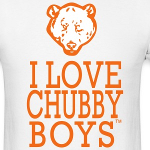 I LOVE CHUBBY BOYS T-Shirts - Men's T-Shirt