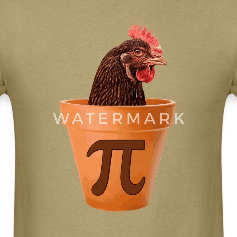 Chicken Pot Pi T-Shirts - Men's T-Shirt