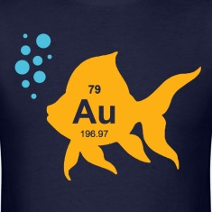 Periodic Table Elemental Gold Fish T-Shirts