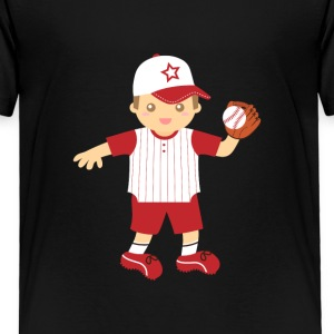 cute baseball boy Baby & Toddler Shirts - Toddler Premium T-Shirt