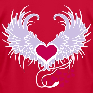 Angel Wings Heart T-Shirts - Men's T-Shirt by American Apparel