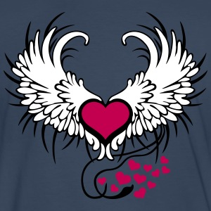 Angel Wings Heart T-Shirts - Men's Premium T-Shirt