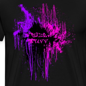 Purple/Pink Front Frozen Staff Design - Men's Premium T-Shirt