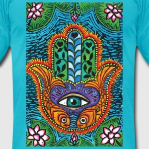 Hamsa men's tee - Men's T-Shirt by American Apparel