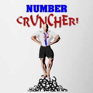 The Number Cruncher Accountant Bottles & Mugs - Contrast Coffee Mug