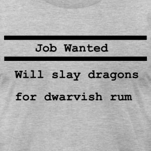Job Wanted - Men's T-Shirt by American Apparel