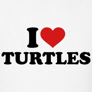 I love Turtles T-Shirts - Men's T-Shirt