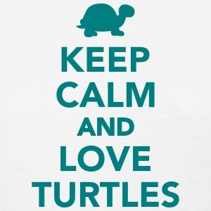 Keep calm and love Turtles Women's T-Shirts - Women's T-Shirt