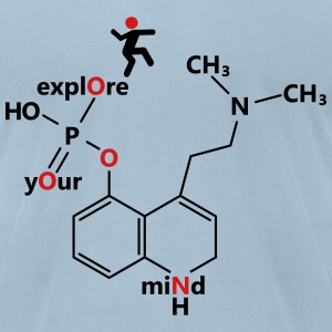 Psilocybine molecule - Men's T-Shirt by American Apparel