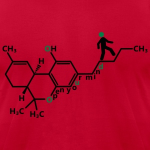 THC molecule - Men's T-Shirt by American Apparel