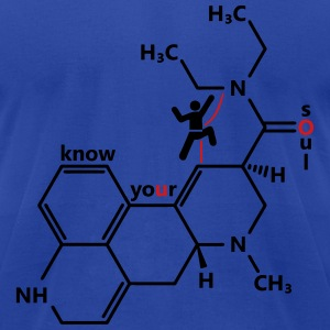 LSD molecule - Men's T-Shirt by American Apparel