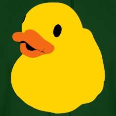 Bath Duck, Rubber Duck, Squeaky Duck, Popart Duck Hoodies