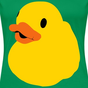 Bath Duck, Rubber Duck, Squeaky Duck, Popart Duck Women's T-Shirts - Women's Premium T-Shirt