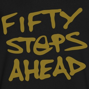 Men's Metallic Gold FIFTY STEPS AHEAD V-Neck Tee - Men's V-Neck T-Shirt by Canvas
