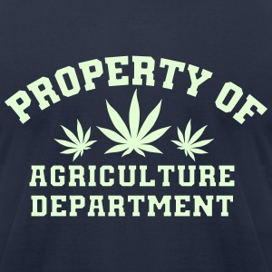 Property Of Agriculture Department (glow-in-dark) - Men's T-Shirt by American Apparel