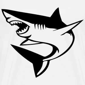 great white shark T-Shirts - Men's Premium T-Shirt