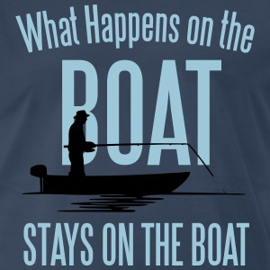 Fishing: What happens on the boat... T-Shirts - Men's Premium T-Shirt