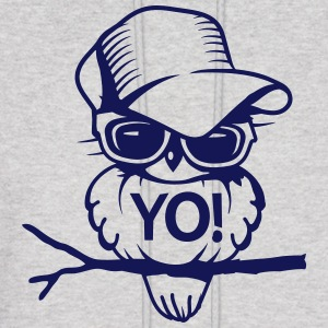 Bird with sunglasses and baseball cap Hoodies - Men's Hoodie