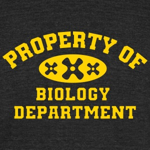 Property Of Biology Department - Unisex Tri-Blend T-Shirt by American Apparel