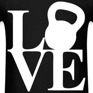 Love Kettlebell T-Shirts - Men's T-Shirt