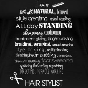 hair text Women's T-Shirts - Women's Premium T-Shirt