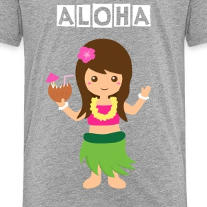 cute hawaii hula girl Kids' Shirts - Kids' Premium T-Shirt