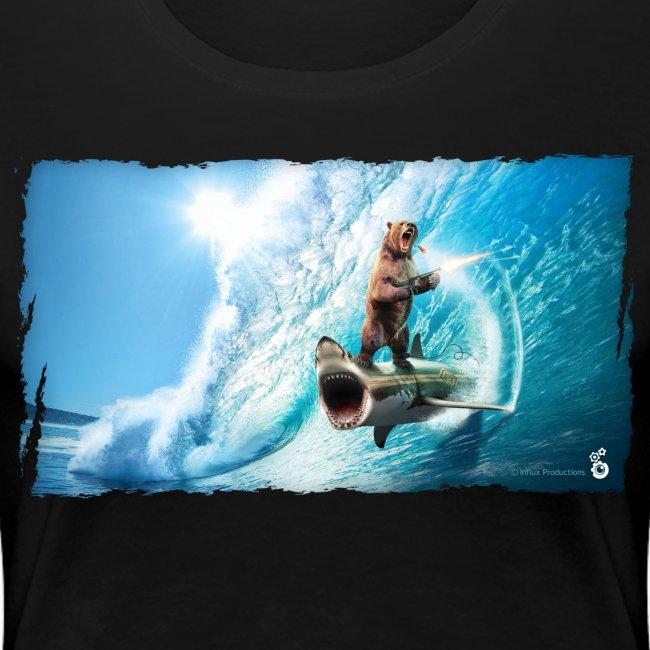 Shark Surfing Bear (womens)