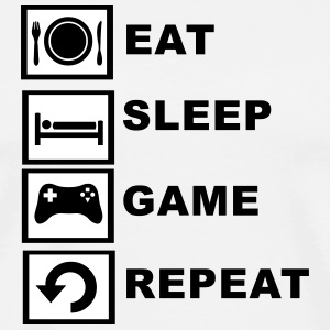 Eat, Sleep, Game, Repeat T-Shirts - Men's Premium T-Shirt